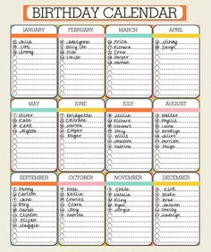 Example Free Birthday Calendar Template Excel Ozhea New Birthday Calendar Template Birthday Calendar Custom Designed - Excel Templates Planner Pages, Life Planner, Printable Planner, Happy Planner, Daily Schedule Printable, Password Printable, Life Binder, Free Printables, Family Birthday Calendar