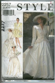 VTG 80s- STYLE 2257- Ms OSFA- Princess Diana inspired 2pc Bridal gown, Wedding dress, Mother of the Bride, Special Occasion Dress. $16.00, via Etsy.