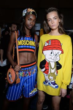 Backstage Moschino Fall-Winter 2015-16 Womenswear Collection -  - Read full story here: http://www.fashiontimes.it/galleria/backstage-moschino-fall-winter-2015-16-womenswear-collection/