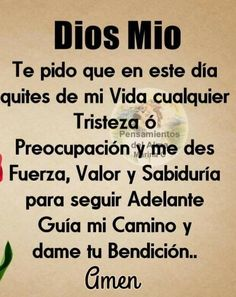 Biblical Verses, Prayer Verses, Faith Prayer, God Prayer, Prayer Quotes, Wisdom Quotes, Catholic Prayers Daily, Spanish Prayers, Spanish Inspirational Quotes