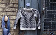 Sweater med færøsk mønster og raglan. Barntröja