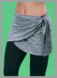 wrap skirt to wear over workout leggings