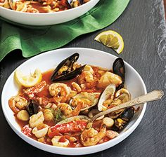 Try one of these healthy holiday meals, like 7-fish stew