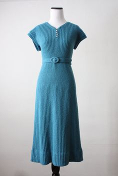 1930's soft cloud sweater dress by 1919vintage on Etsy, $245.00