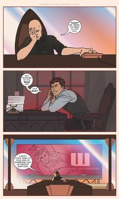 """No More Ocean View by Harseik on deviantART. """"Justice. The way it's carried out in corporate America. Sometimes I like to believe that DC Comics' rich people invest gross amounts of money into trolling each other. Maybe Tedd, Oliver, and Bruce need to team up and torment Lex like every Thursday. It's what Luthor gets for picking on the universe's nicest guy ever."""" -Harseik"""