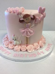 Come in and meet with one of our cake order specialists. If possible, bring in photos of your desired cake. Ballet Birthday Cakes, Ballet Cakes, Birthday Cakes For Women, Birthday Cake Girls, Girly Cakes, Painted Cakes, Occasion Cakes, Celebration Cakes, Cake Art