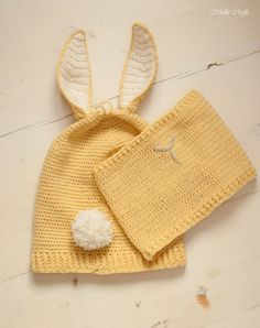 CROCHET PATTERN bunny slouch hat and cowl set Gemma от MukiCrafts