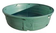 610 Gallon Green Poly Round Stock Tank $288.95 PLUS SHIPPING. 8' diameter. weight 95 pounds, so I could manage it by myself. But green?
