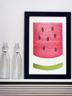 O Watermelon - The South - Old Try - Letterpress Print