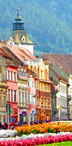 Brasov, Romania. I have actually ridden through Brasov, too bad we couldn't stop!