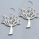 silver tree earrings - Daphne Olive