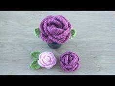 Crochet Tiny Flower Video Tutorial - We Love Crochet Crochet Girls, Love Crochet, Irish Crochet, Crochet Flowers, Crochet Baby, Crochet Designs, Crochet Patterns, Crochet Hair Accessories, Flower Video