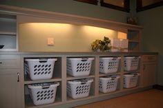 Laundry room- laundry basket cubbies