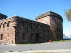 200 years old - Castle Williams on Governors Island - one of several defensive fortifications that protected NY Harbor. Incredible island views of Manhattan, Brooklyn, and NJ - a must-see, free summer stop.