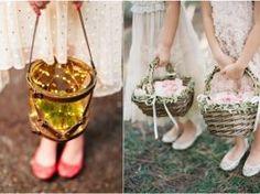 35 Flower Girls Basket Ideas to Sprinkle up Wedding Aisle