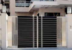 Modern Stainless Steel Main Gates Design Idea