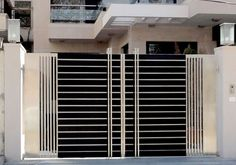 Modern Stainless Steel Main Gates Design Idea