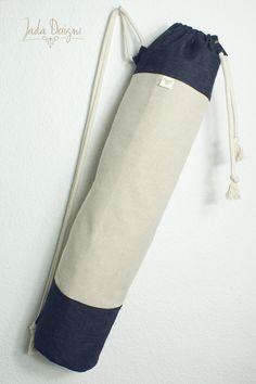 """Yogatasche """"Denim"""" / Yogamattentasche / Sporttasche / Cotton / vegan // Yoga Mat Bag von byJadaDesigns auf Etsy"""
