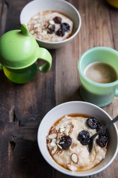 Farro Porridge Recipes with Brown Sugar Soaked Cherries and Almonds.