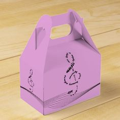 music to my ears - treble clef in words favor box