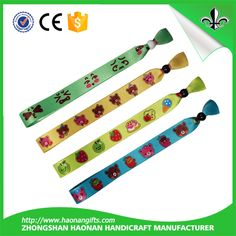 Haonan newest cheap festival satin wristbands