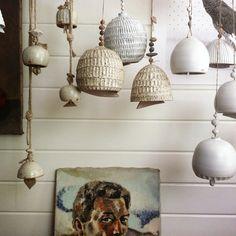 Pottery & Bells in Beth's studio