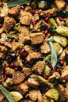 Healthy Vegetable Thanksgiving Stuffing – A Simple Palate - - Easy Thanksgiving Sides, Thanksgiving Stuffing, Healthy Grains, Healthy Vegetables, Healthy Eats, Easy Clean Eating Recipes, Easy Vegetarian Dinner, Real Food Recipes, Cooking Recipes