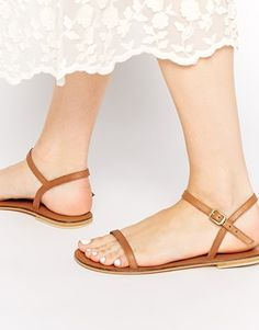 ASOS FATED Two Part Leather Sandals