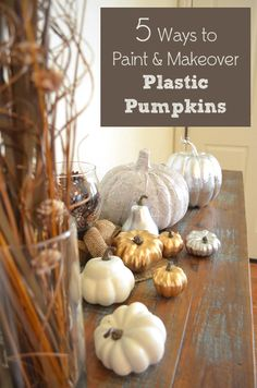 For those of you looking for fun ideas for your fall home decor, spray painting pumpkins is perfect look. There are so many cute ways to paint and dress up the plastic pumpkins you can find at your local craft store. I wanted to experiment with a few different techniques, …