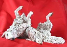 Borzoi+Russian+Wolfhound+Kamansa+Sculpture+by+KamansaKorner,+$625.00