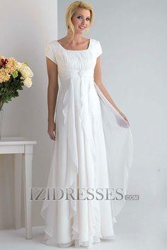 A-Line Sheath/Column Square Chiffon Bridesmaids Dresses at IZIDRESSES.com