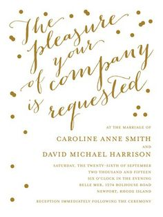 Delicate Diagonal - Foil Stamping Wedding Invitations - simplyput by Ashley Woodman - Gold Foil - Yellow : Front