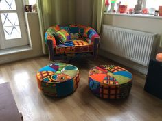Afrotechnicolour Waxblockprint Mid by RayClarkeUpholstery African Room, African Interior Design, Apartment Makeover, African Home Decor, Ethnic Decor, Home And Deco, Upholstered Chairs, Modern Chairs, Soft Furnishings