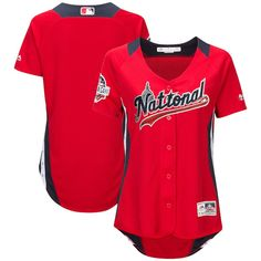 317856ab201 National League Majestic Women s 2018 MLB All-Star Game Home Run Derby Team  Jersey – Scarlet