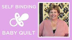 Self Binding Baby Blanket Pattern - Missouri Star Quilt Co. From Missouri Star Quilt Company Self Binding Baby Blanket, Baby Blanket Tutorial, Easy Baby Blanket, Baby Quilt Tutorials, Missouri Star Quilt Tutorials, Baby Sewing Projects, Quilting Tutorials, Msqc Tutorials, Beginner Quilting