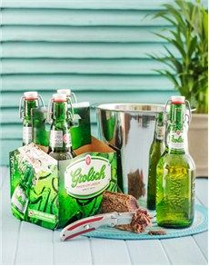 Fine Wine and Spirits - Beer: Grolsch Ice Bucket Gift Hamper! Beer Online, Fine Wine And Spirits, Gift Hampers, St Patricks Day, Craft Beer, Cucumber, Bucket, Ice, Snacks