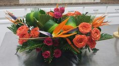 Tropical Flower Wedding Centerpieces   Tropical Wedding Centerpiece