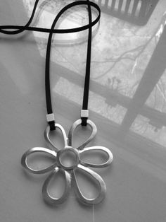 sterling silver plated brass flower pendant