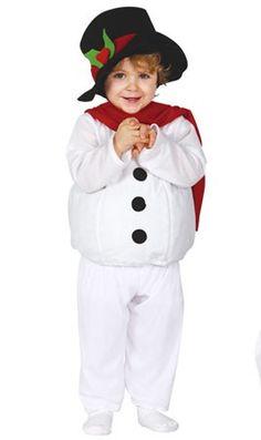 Disfraz de Muñeco Nieve Barrigón bebé