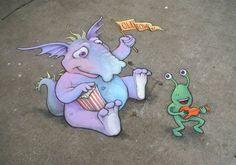Sluggo On the Street, by David Zinn