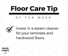 Floor care #tip: invest in a steam cleaner.
