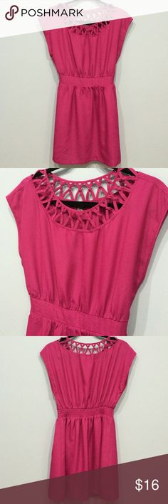 Slip Dress Deep pink (photos are lighter in color) throw over dress. Easy to wear and looks great. The dress is lined and has an elastic waist. Forever 21 Dresses
