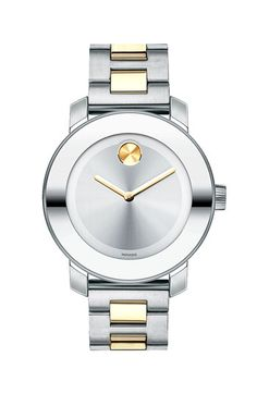 But the gold one with less silver. Movado 'Bold' Round Bracelet Watch, 36mm available at #Nordstrom