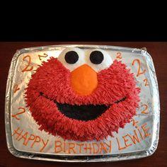 Sesame Street Birthday Party Ideas Elmo cake Elmo and Cake