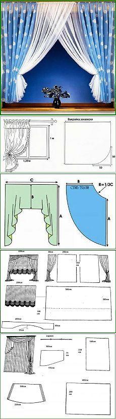 Сшить шторы на кухню своими руками.