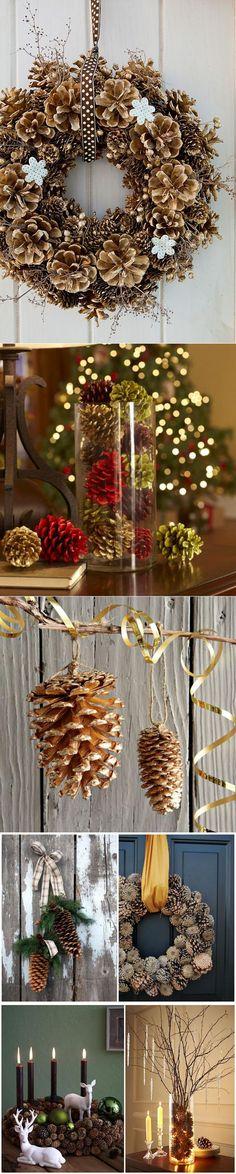Новогодний декор из шишек   HANDWORK-декор своими руками   Постила