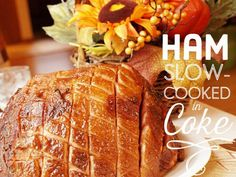 How to cook a ham in a slow cooker: it's cooked in Coke and then baked in a lovely sticky, aromatic glaze, a great yummy dish that the whole family will enjoy. Perfect served hot or cold.