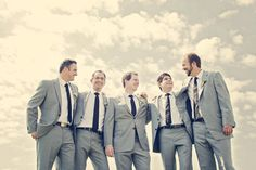 Ontario Wedding by Renaissance Studios - Men Dark Grey Groomsmen, Groomsmen Attire Grey, Groomsmen Outfits, Groom Wear, Wedding Photoshoot, Wedding Pics, Wedding Styles, Wedding Ideas, Wedding Details