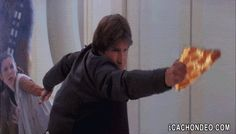 In honor of the Star Wars holiday, here?s a collection of funny Star Wars gifs from everyone?s favorite sci-fi saga. Yolo, Make Your Own Animation, Darth Vader, The Force Is Strong, Star Wars Humor, Love Stars, Star Trek, Nerdy, Funny Pictures