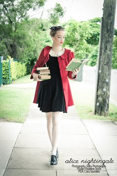 Alice Nightingale librarian chic.